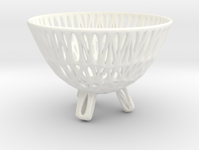 Egg Cup (006) in White Strong & Flexible Polished