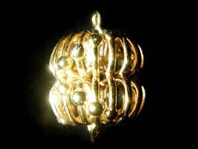 Double Torus Electromagnetic Field 23mm Pendant in 14k Gold Plated