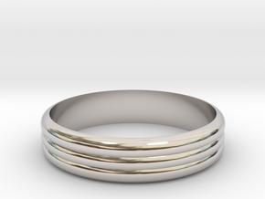 Ribble 3 Ring ø20 mm in Rhodium Plated