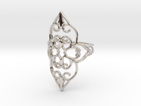 Bloom - size 6 in Rhodium Plated