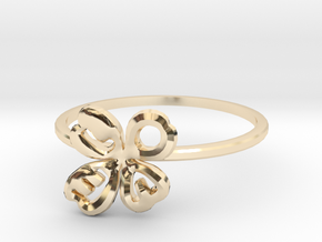Clover Ring Size US 7 (17.35mm) in 14k Gold Plated