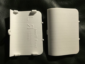PAIR Front Jack Point Covers Saab 9-3 Aero Viggen in White Strong & Flexible