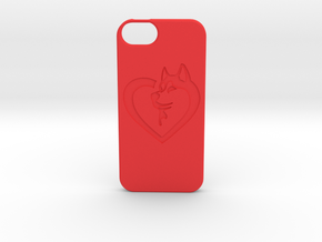 Husky Love iPhone5 Case in Red Strong & Flexible Polished
