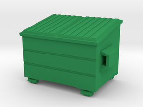 Dumpster - HO 87:1 Scale in Green Strong & Flexible Polished