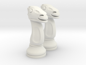 Pair Chess Camel Big / Timur Jamal  in White Strong & Flexible