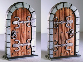 Fantasy RPG Tabletop Standard Door - closed in White Strong & Flexible Polished