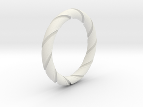 Bernd - Ring - US 7¼ - 17.5mm inside diameter in White Strong & Flexible