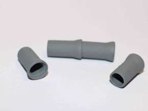N Scale Sewer Pipes 1000mm 8pc in White Strong & Flexible Polished