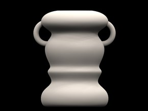 Small Minimalist Vase  in White Strong & Flexible