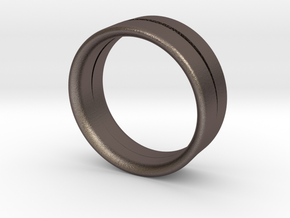 Design Ring Double Split �16.60 Mm Size 52 in Stainless Steel