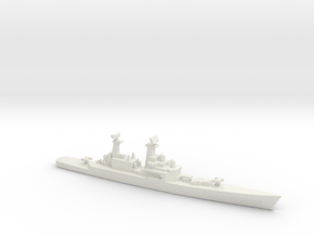 USS CGN-25 Bainbridge, 1990 layout, 1/2400 in White Strong & Flexible