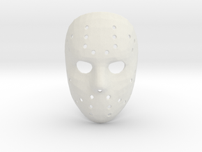 Jason Voorhees Mask (Small) in White Strong & Flexible