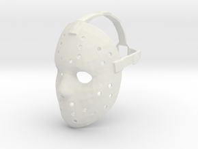 Jason Voorhees Mask W/ Strap in White Strong & Flexible