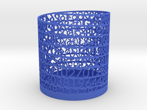 PI Pen and Pencil Holder - Medium in Blue Strong & Flexible Polished