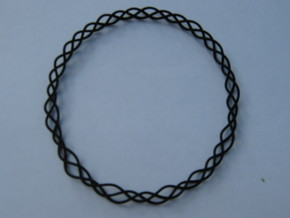 Coil Bracelet 335 in White Strong & Flexible