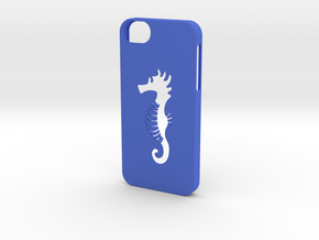Iphone 5/5s hippocampus case in Blue Strong & Flexible Polished