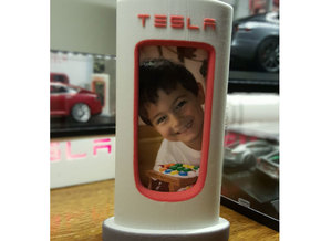 Tesla Supercharger Picture Frame in Full Color Sandstone