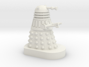 Dalek Mini [Cushing Movie Style] 30mm scale in White Strong & Flexible