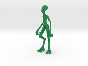 Alien Biped in Green Strong & Flexible Polished