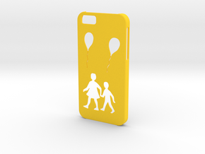 Iphone 6 Balloon case in Yellow Strong & Flexible Polished