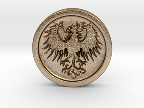 Resident Evil 2: Eagle medal in Polished Gold Steel