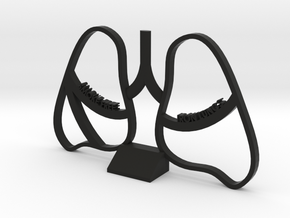 Smoke Free Lungs - Quitting Smoking Trophy in Black Strong & Flexible