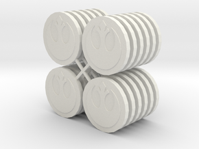 Star Wars Armada Misson Tokens in White Strong & Flexible