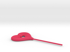 Heart Stick Pin Post in Pink Strong & Flexible Polished