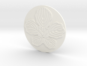 Paper Mulberry Leaf Coaster in White Strong & Flexible Polished