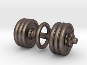 Dumbbell With Loop in Stainless Steel