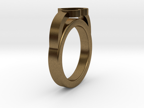 16.50 mm Heart Ring in Raw Bronze