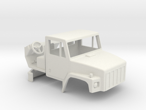 1/64 scale International 2574 Truck cab with inter in White Strong & Flexible