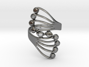 Butterfly Wing Ring Size 13 in Polished Silver