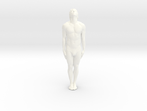 Male Dancer 007 scale 1/18 in White Strong & Flexible Polished