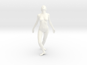 Female Dancer 003 scale in 1/18 in White Strong & Flexible Polished