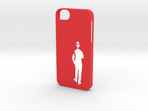 iPhone 5/5s Case Charlie Chaplin in Red Strong & Flexible Polished