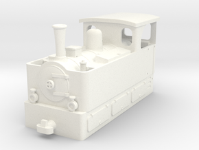 Freelance H0e tramway loco (n. 4) in White Strong & Flexible Polished