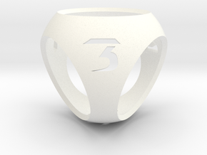 Sphere Dice in White Strong & Flexible Polished