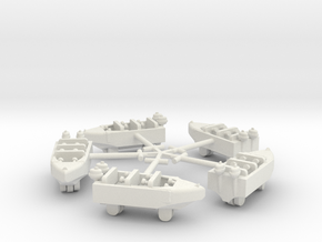 Hamptom Boats with Sweeps in White Strong & Flexible