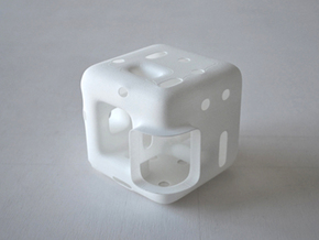 Cube Vase in White Strong & Flexible