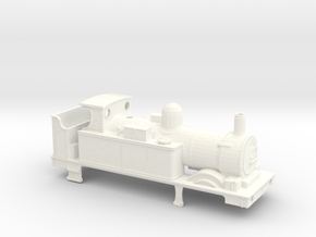 GWR 517 Body - Open Cab Round Firebox in White Strong & Flexible Polished