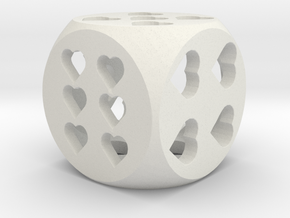 Hearts Dice in White Strong & Flexible