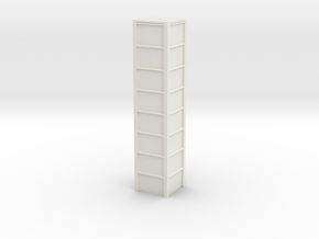 'N Scale' - 8'x8'x40' Loadout Bin in White Strong & Flexible