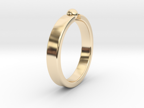 Ø19.22mm - 0.757 inches Ring in 14k Gold Plated