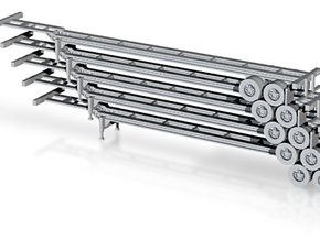 N 53' Container Chassis Stack #1 in Frosted Ultra Detail