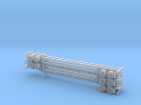 N 53' Container Chassis Stack #2 in Frosted Ultra Detail