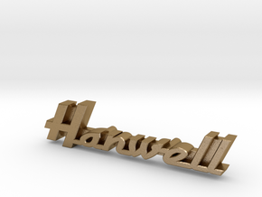 Hanwell (Marshall) Quad Speaker - Logo Badge in Polished Gold Steel