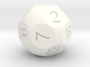 D16 Sphere Dice in White Strong & Flexible Polished