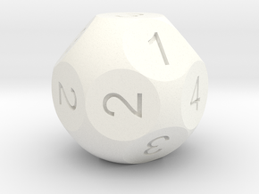 D16 Sphere Dice numbered as 4D2 in White Strong & Flexible Polished
