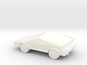 Concept Super Car  in White Strong & Flexible Polished